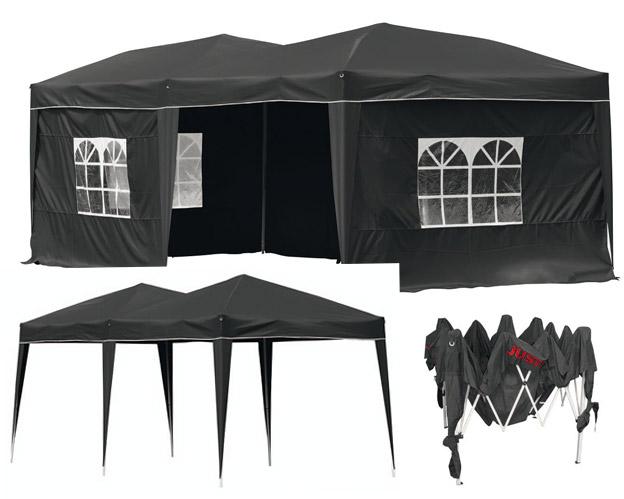 Partyzelt mit  4 Seitenteilen schwarz Bild 1