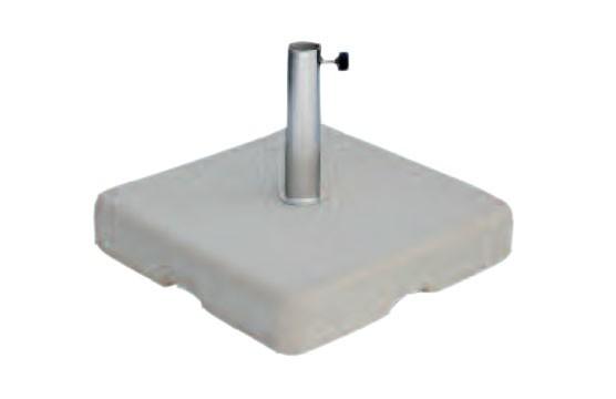 Sonnenschirmständer Zangenberg Beton eckig grau 60kg Ø26-55mm Bild 1