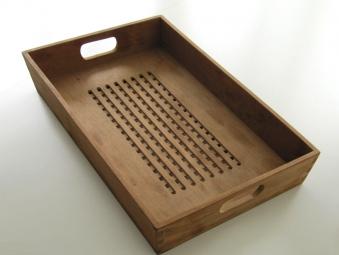 Tablett aus Teakholz 50x32cm Bild 1