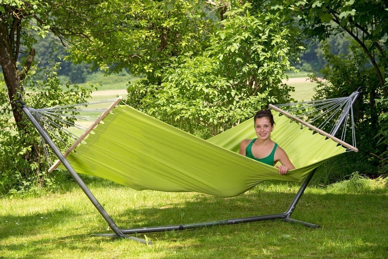 h ngematte amazonas miami kiwi 220x120cm bei. Black Bedroom Furniture Sets. Home Design Ideas