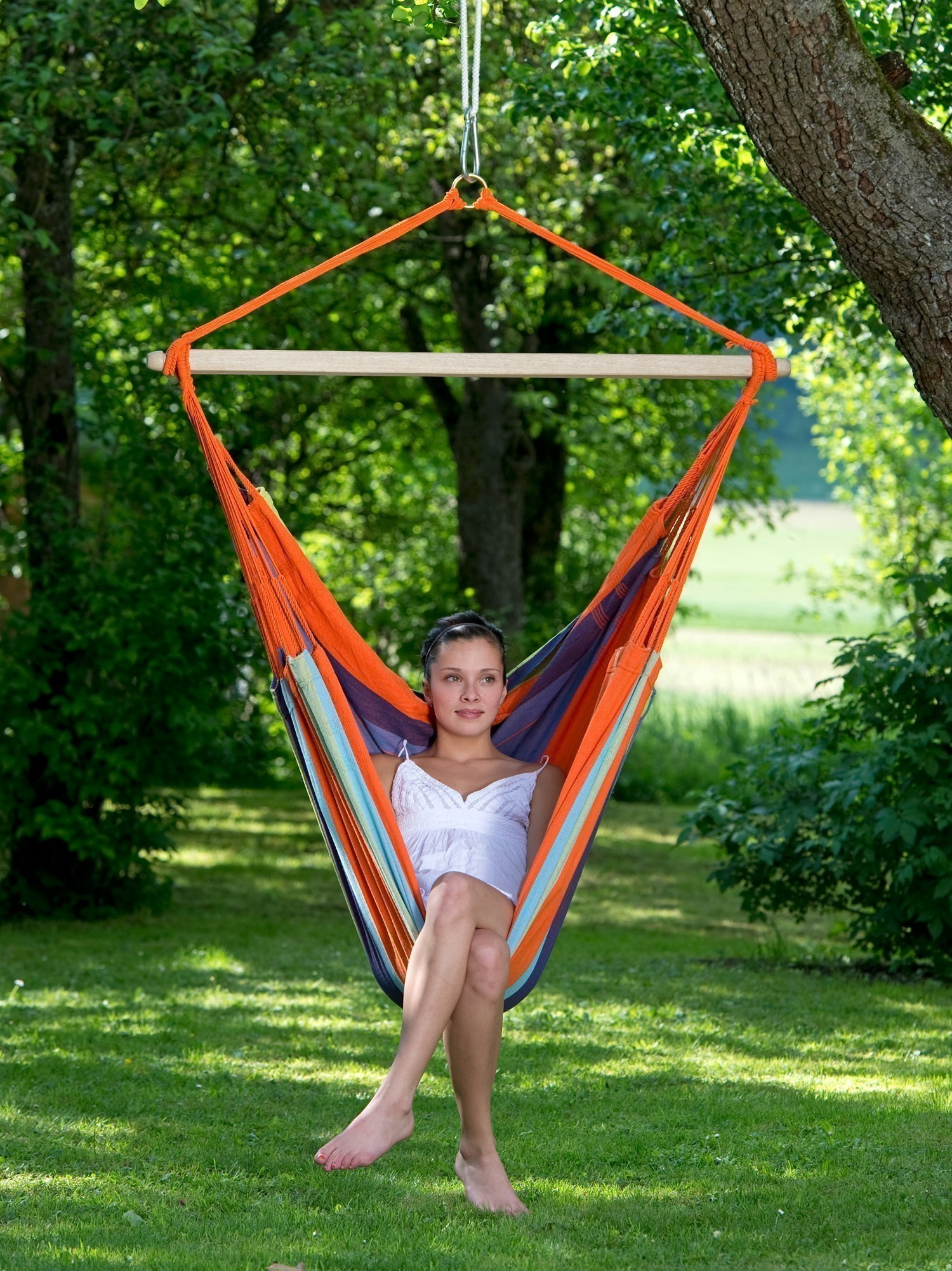 h ngesessel amazonas bogota mandarina 180x130cm bei. Black Bedroom Furniture Sets. Home Design Ideas