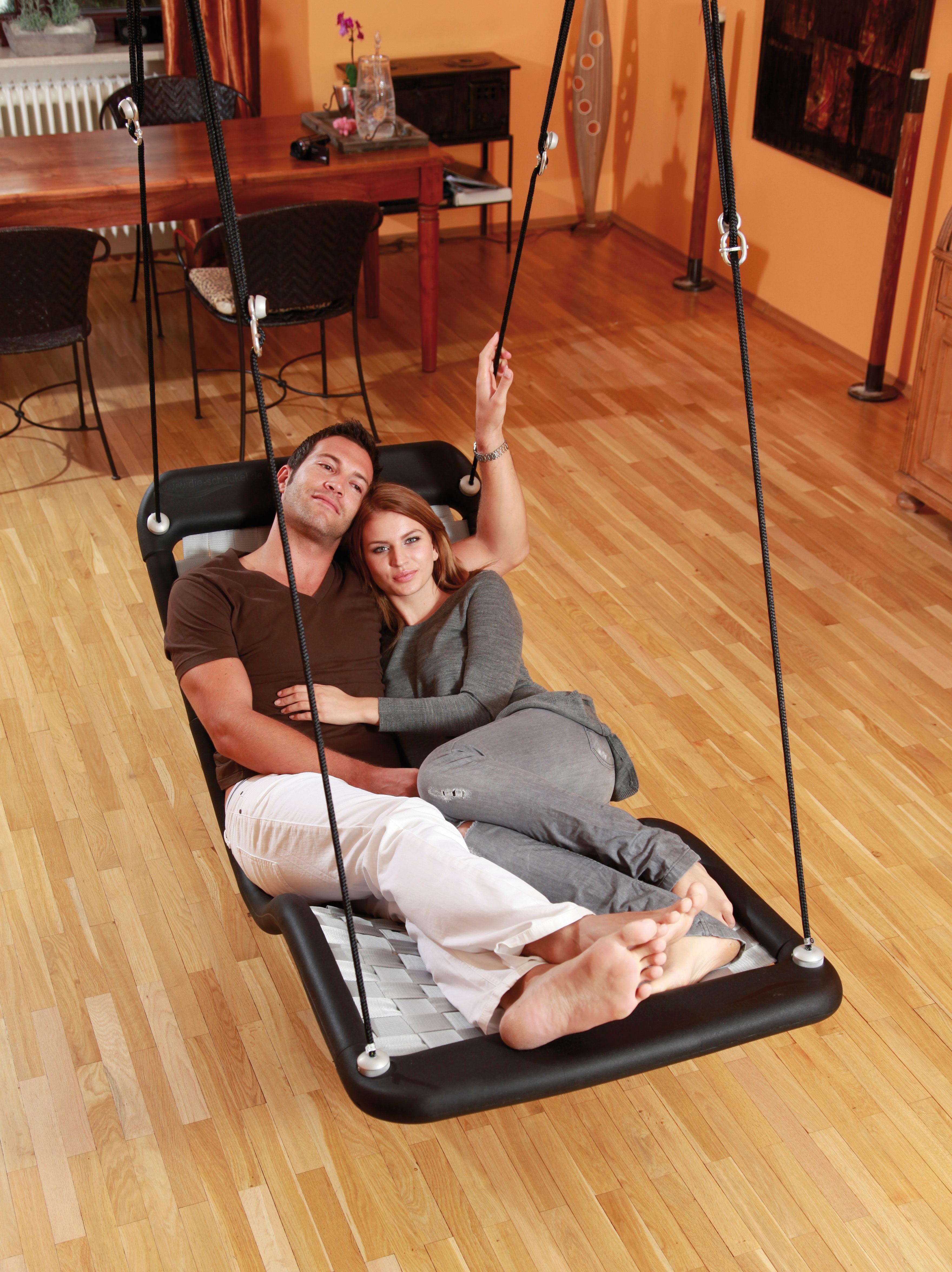 schaukel f r erwachsene dreamlinerplus xl silber. Black Bedroom Furniture Sets. Home Design Ideas