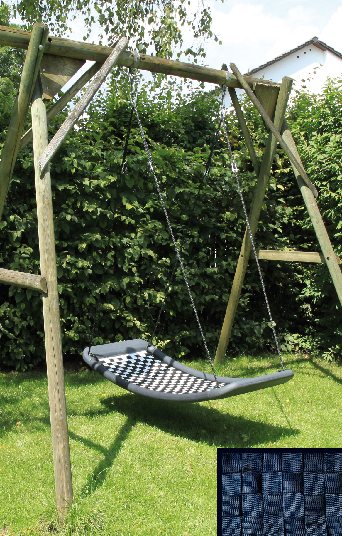 schaukel f r erwachsene lifestylestandard el schwarz 166 x. Black Bedroom Furniture Sets. Home Design Ideas