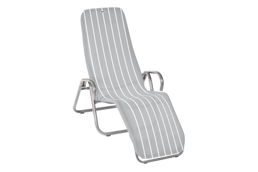 Bäderliege / Saunaliege klappbar Acamp Calypso Stahl platin / denver Bild 1