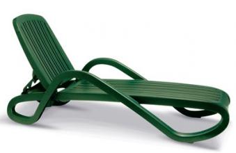 Best Stapelliege Bäderliege Relaxliege Eden grün Bild 1