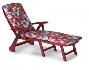 Gartenliege / Rollliege Charleston Best Kunststoff bord. +Polster 1263 Bild 1