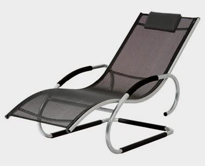 gartenliege schwingliege adria silber schwarz alu bei. Black Bedroom Furniture Sets. Home Design Ideas