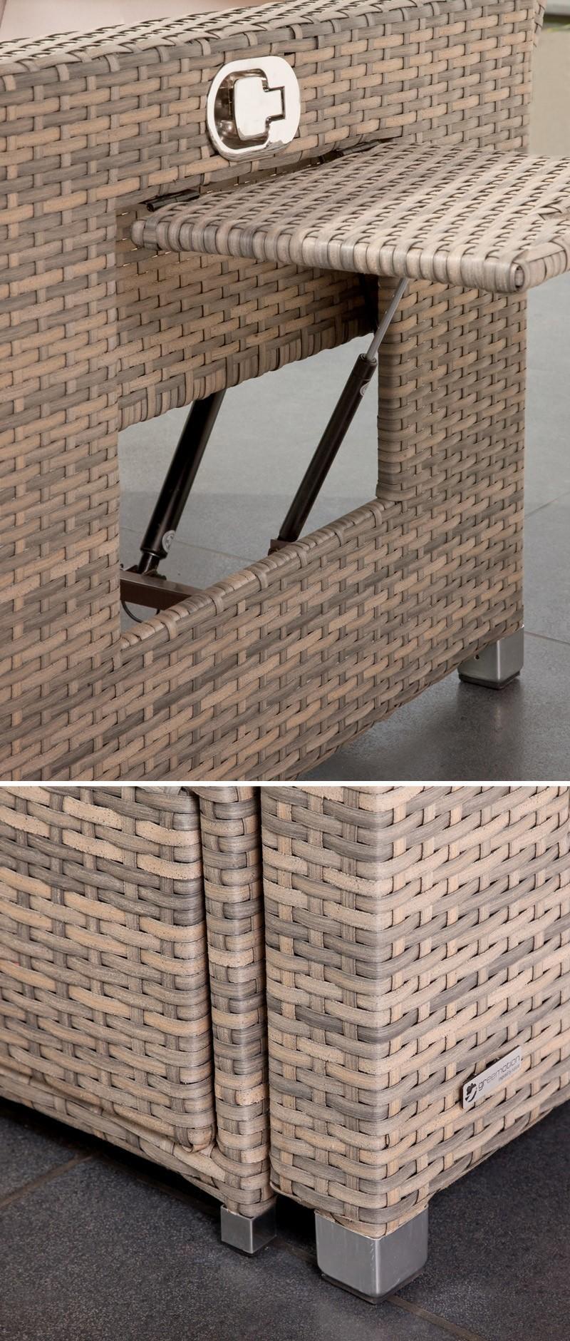 Gartensofa / Lounge Liege Bahia Twin greemotion Polyrattan grau Bild 2