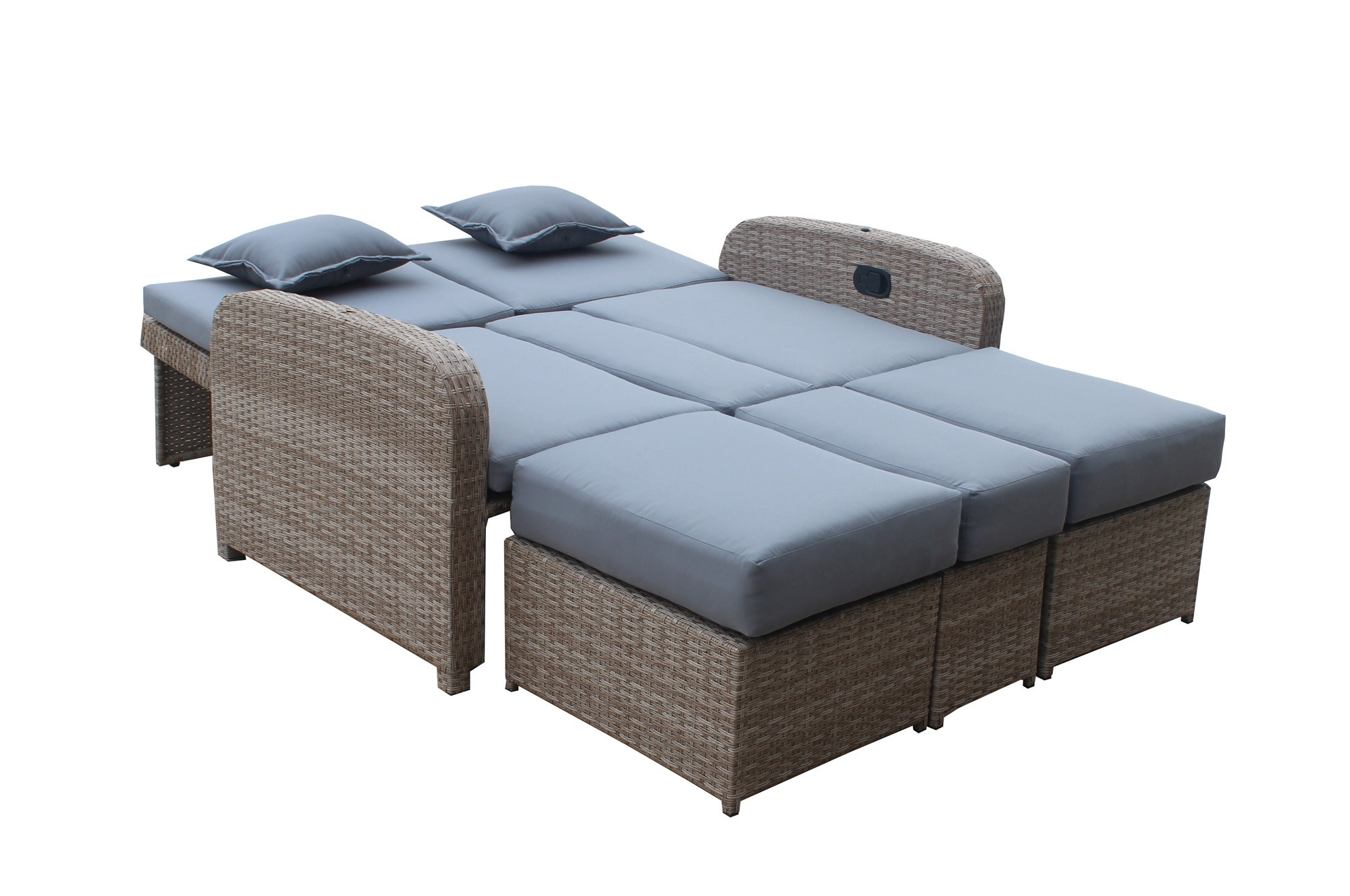 rattan liege mit dach vidaxl sonnenliege poly rattan loungeliege relaxliege gartenliege liege. Black Bedroom Furniture Sets. Home Design Ideas