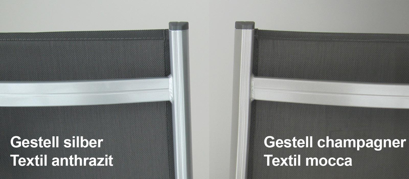 kettler gartenliege basic plus 0301214 000 stapelbar silber anthr alu bei. Black Bedroom Furniture Sets. Home Design Ideas