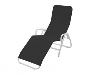 mfg b derliege saunaliege pool 3 klappbar stahl silber schwarz bei. Black Bedroom Furniture Sets. Home Design Ideas
