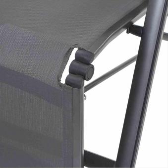 MWH Relaxliege / Relaxsessel Core Alu anthrazit / grau Bild 3