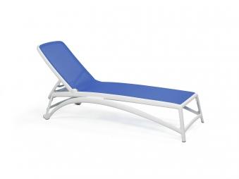 Nardi Gartenliege / Sonnenliege Atlantico stapelbar bianco / blu Bild 1