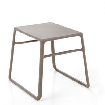 Nardi Gartenhocker Beistelltisch Tavolino Pop stapelb. 44x39,5 tortora