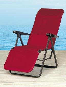 Relaxliege / Relaxsessel klappbar Lugano anthrazit / bordeaux Bild 1