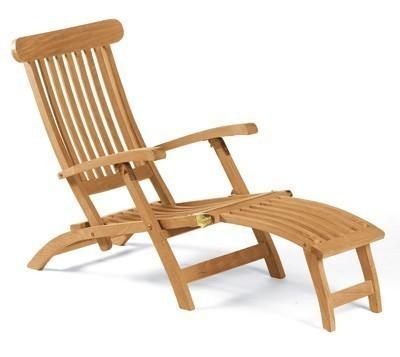 Sonnenpartner Gartenliege / Deckchair Manhattan Teak Bild 1