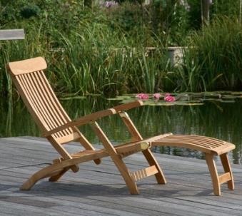 Sonnenpartner Gartenliege / Deckchair Manhattan Teak Bild 2