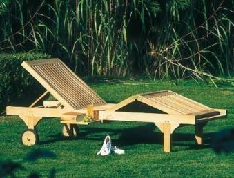 Sonnenpartner Gartenliege / Rollliege Queens Teak Bild 2