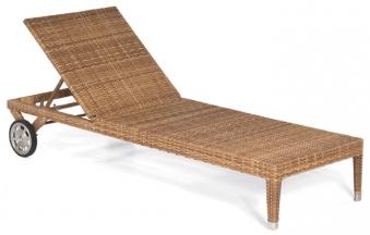 Sonnenpartner Liege / Rollliege Korbmöbel wetterf. Caicos natura antik Bild 1