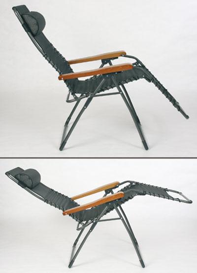 Sungörl Relaxsessel / Relaxliege Stahl OASI SAND Textilen natur Bild 3