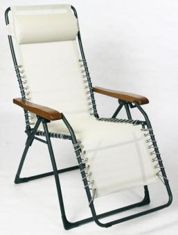 Sungörl Relaxsessel / Relaxliege Stahl OASI SAND Textilen natur Bild 1