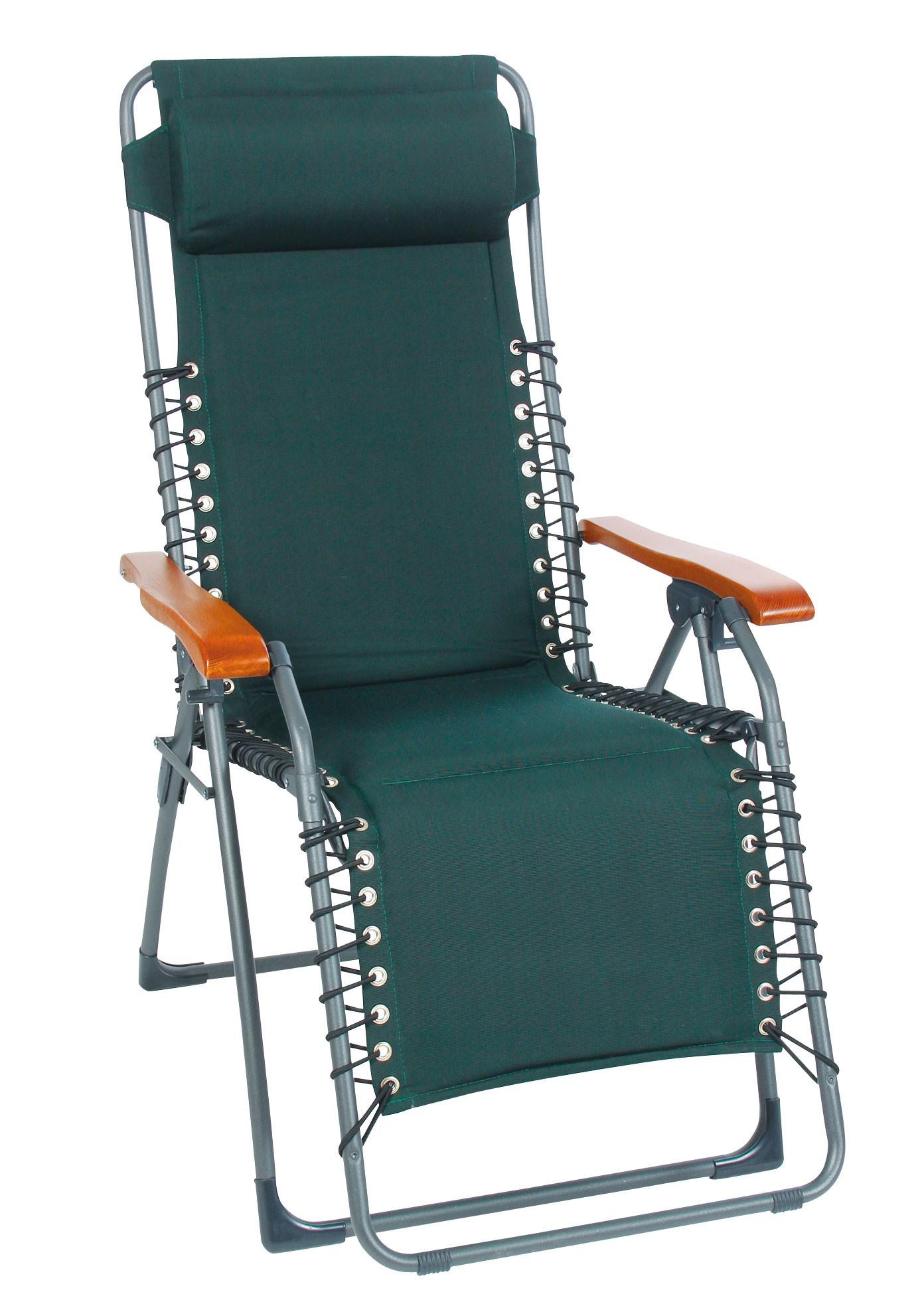 Sungörl Relaxsessel / Relaxliege Stahl Oasi Petra anthrazit / grün Bild 1