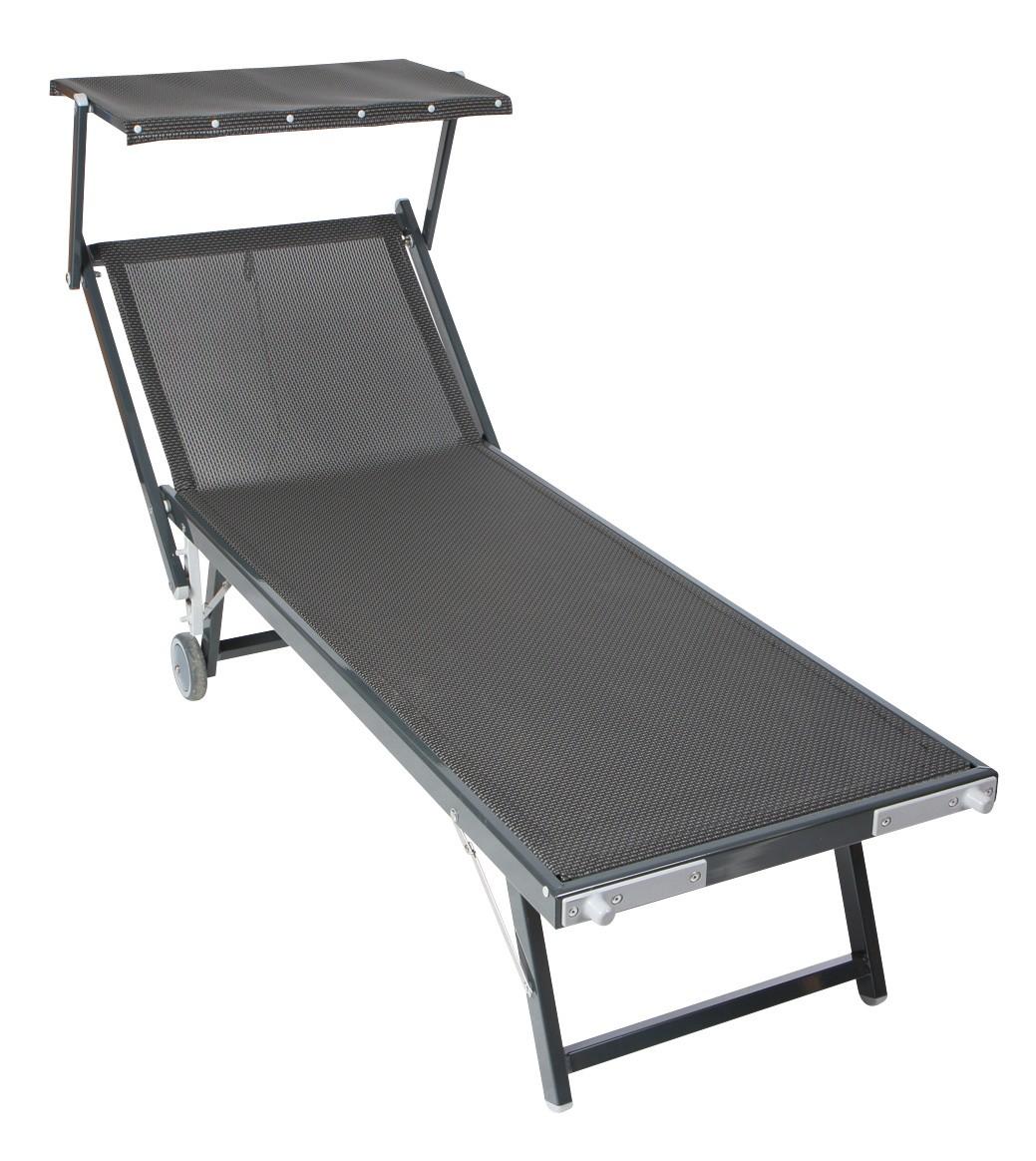 sung rl sonnenliege medici mit sonnendach rollbar alu anthrazit bei. Black Bedroom Furniture Sets. Home Design Ideas
