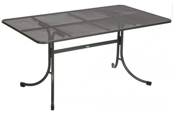 mwh gartentisch profi universal eisengrau streckmetall. Black Bedroom Furniture Sets. Home Design Ideas