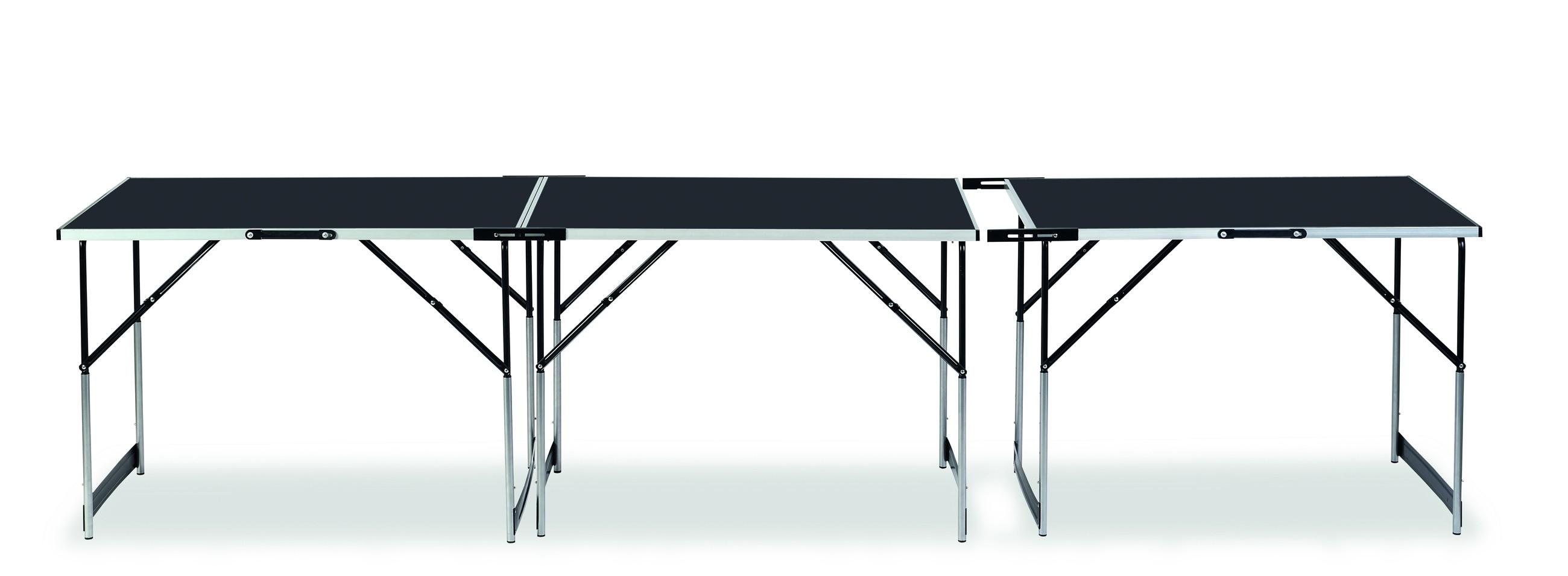 mehrzwecktisch tapeziertisch connect 3 teilig alu 300x60 cm bei. Black Bedroom Furniture Sets. Home Design Ideas