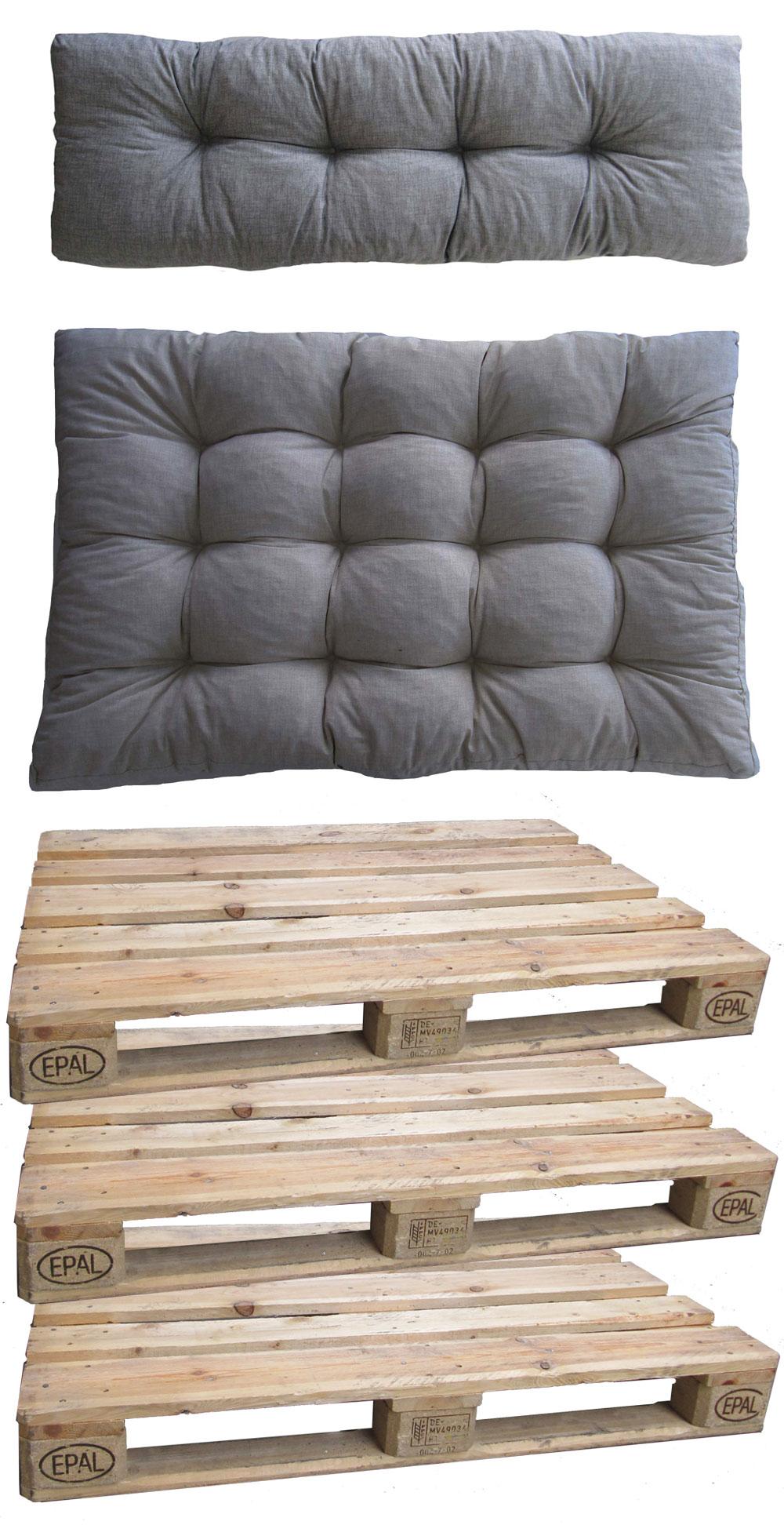 Paletten für Palettenmöbel Gartenstuhl mit Polster grün Set - bei ...