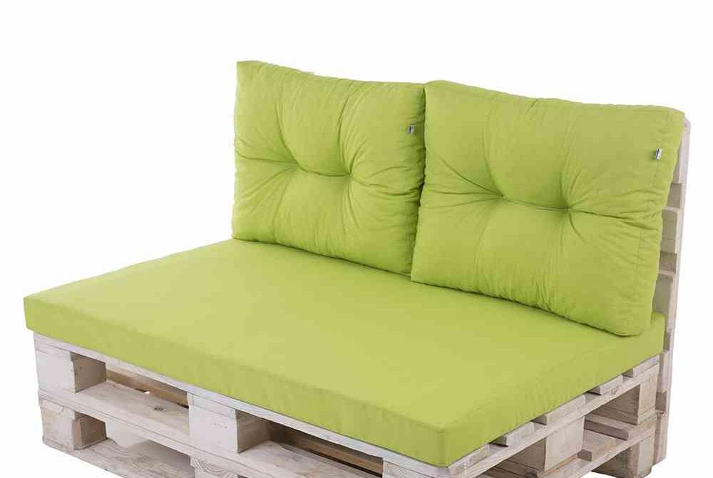 Paletten für Palettenmöbel Sitzgruppe mit Polster grün Set - bei ...