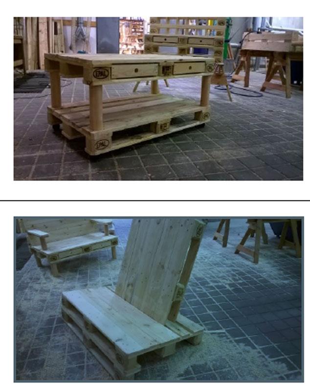 Palettenmöbel Polster paletten für palettenmöbel sitzgruppe mit polster rot set - bei