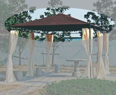 ersatzdach zu pavillon tosca mocca bei. Black Bedroom Furniture Sets. Home Design Ideas