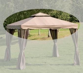 ersatzdach f r pavillon dubai 300x300cm mocca bei. Black Bedroom Furniture Sets. Home Design Ideas