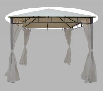 Ersatzdach zu Pavillon Modern Bellavista 350x350cm beige mit Volant Bild 1