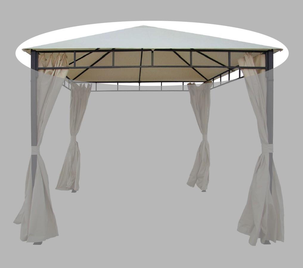 Ersatzdach zu Pavillon Modern Bellavista 350x350cm beige mit Volant