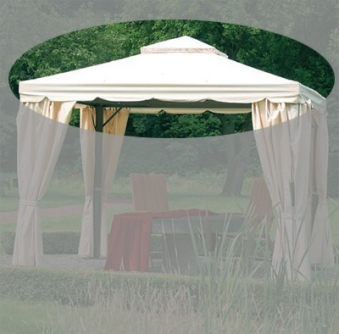 Ersatzdach zu Siena Garden Pavillon Dubai natur 300x300cm Bild 1