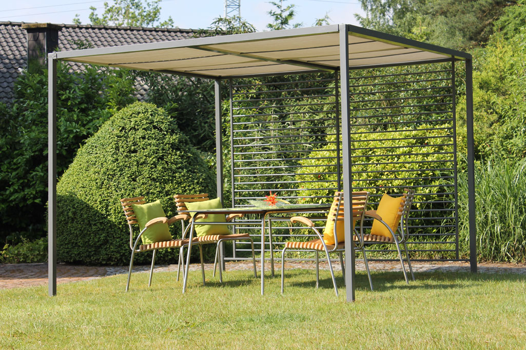 leco sonnenschutz pergola modern style anthrazit grau 280x280x245cm bei. Black Bedroom Furniture Sets. Home Design Ideas