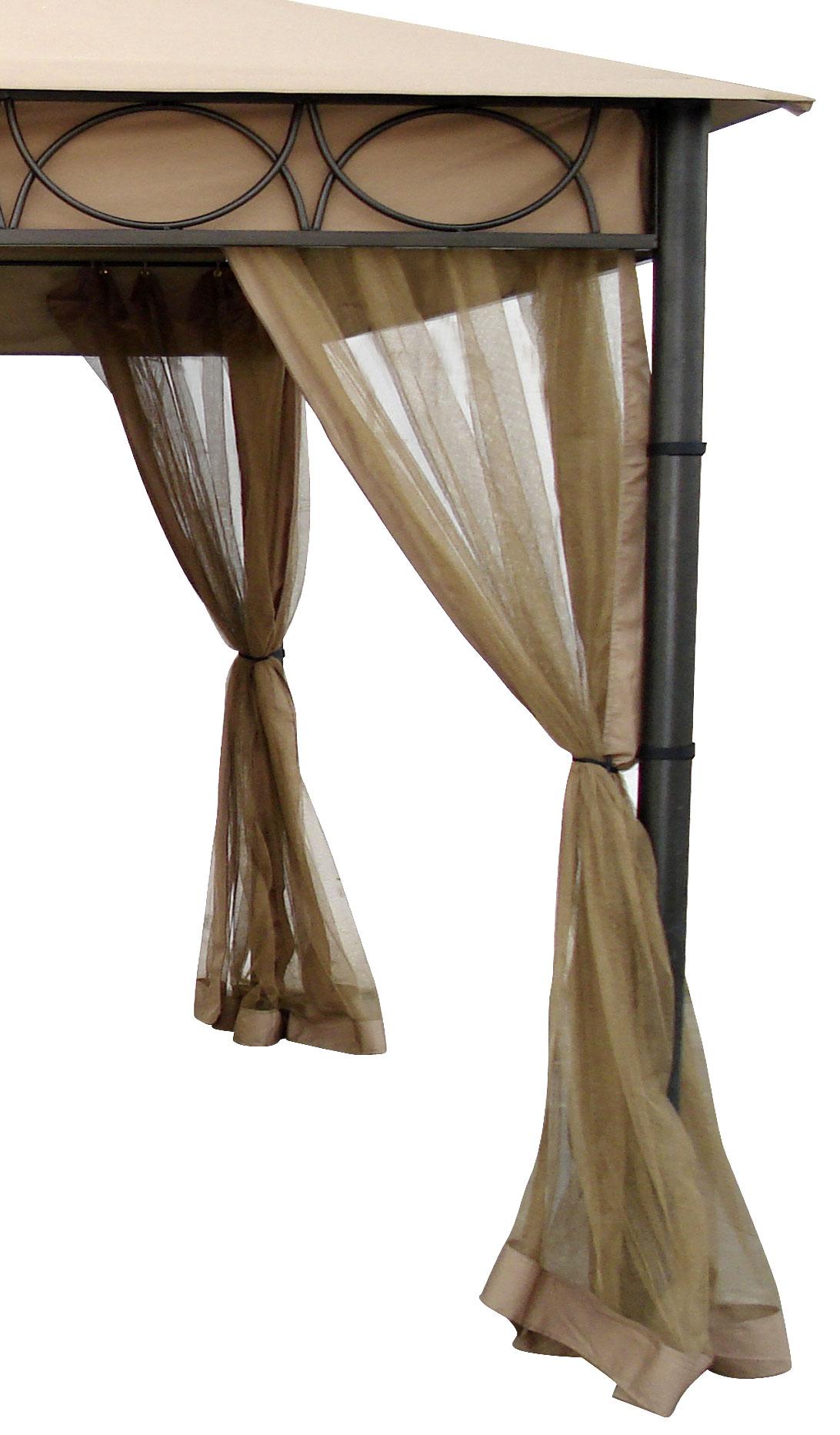Moskitonetze für Luxus-Metallpavillon Bellavista 350x350cm 4 Stück Bild 1