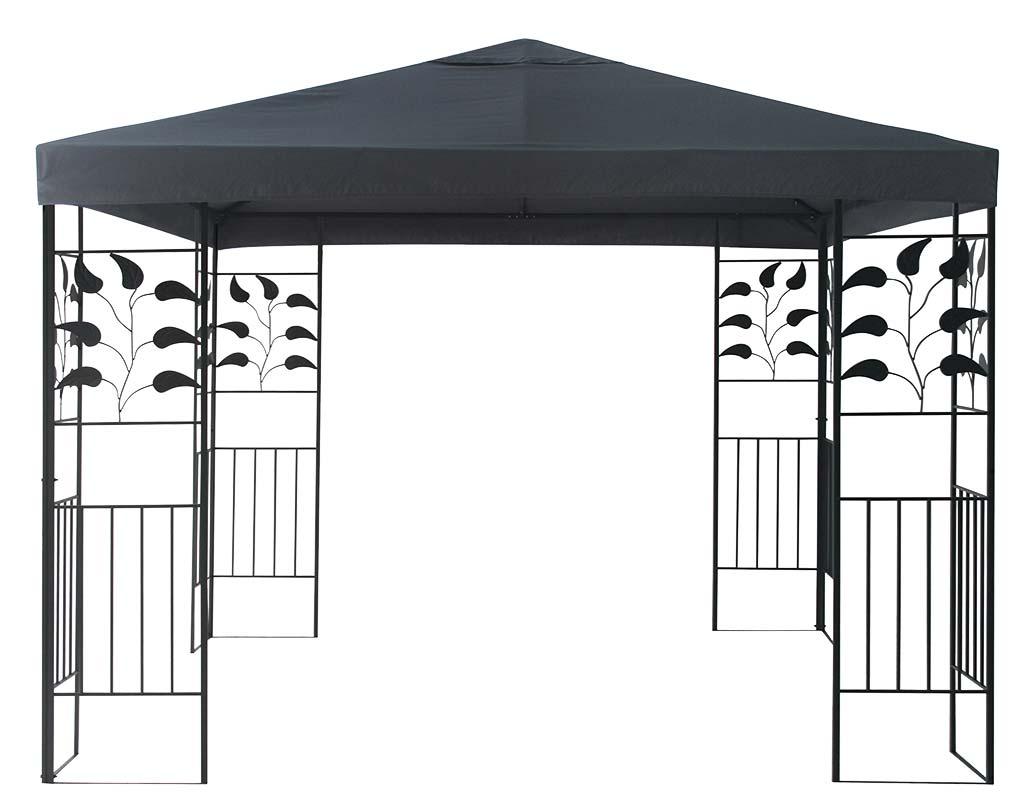 Pavillon / Gartenpavillon Blätterpavillon Bellavista 3x3m anthrazit Bild 1