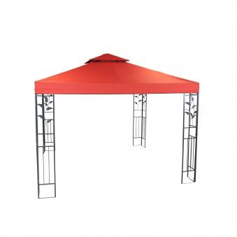 Pavillon / Gartenpavillon Livorno 300x300cm Stahl eisengrau / terra Bild 1