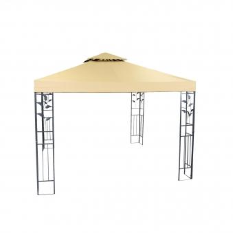 Pavillon / Gartenpavillon Livorno 300x300cm Stahl grau/beige Bild 1