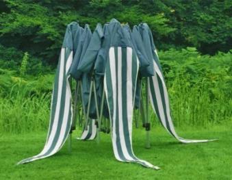 Pavillon / Gartenpavillon Siena Garden faltbar Alu 300x300cm grün/weiß Bild 2