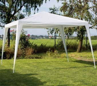 Pavillon / Partyzelt Bellavista Sahara 300 x 300 cm weiß Stahl Bild 1