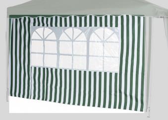 Seitenteile 2er Set für Siena Garden Faltpavillon 3x3m grün-weiß Bild 2
