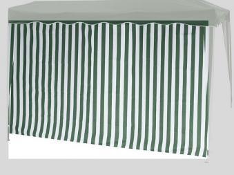 Seitenteile 2er Set für Siena Garden Faltpavillon 3x3m grün-weiß Bild 3