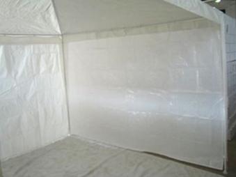 Seitenteile für Pavillon Bellavista 3 x 3 m weiß ohne Fenster 2teilig Bild 1
