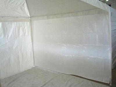 Seitenteile f r pavillon 3 x 3 m wei ohne fenster 2teilig for Fenster 3 teilig