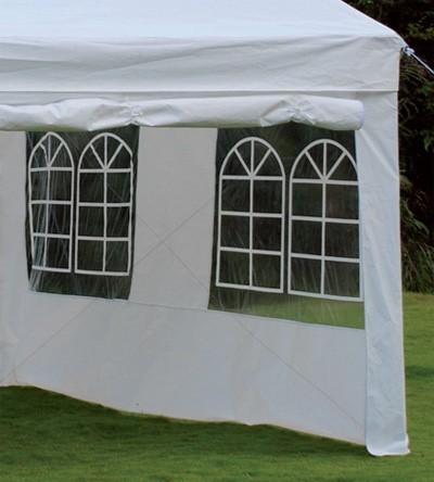 Seitenteile mit Fenstern für Pavillon Bellavista 3x3m weiß 2teilig Bild 1