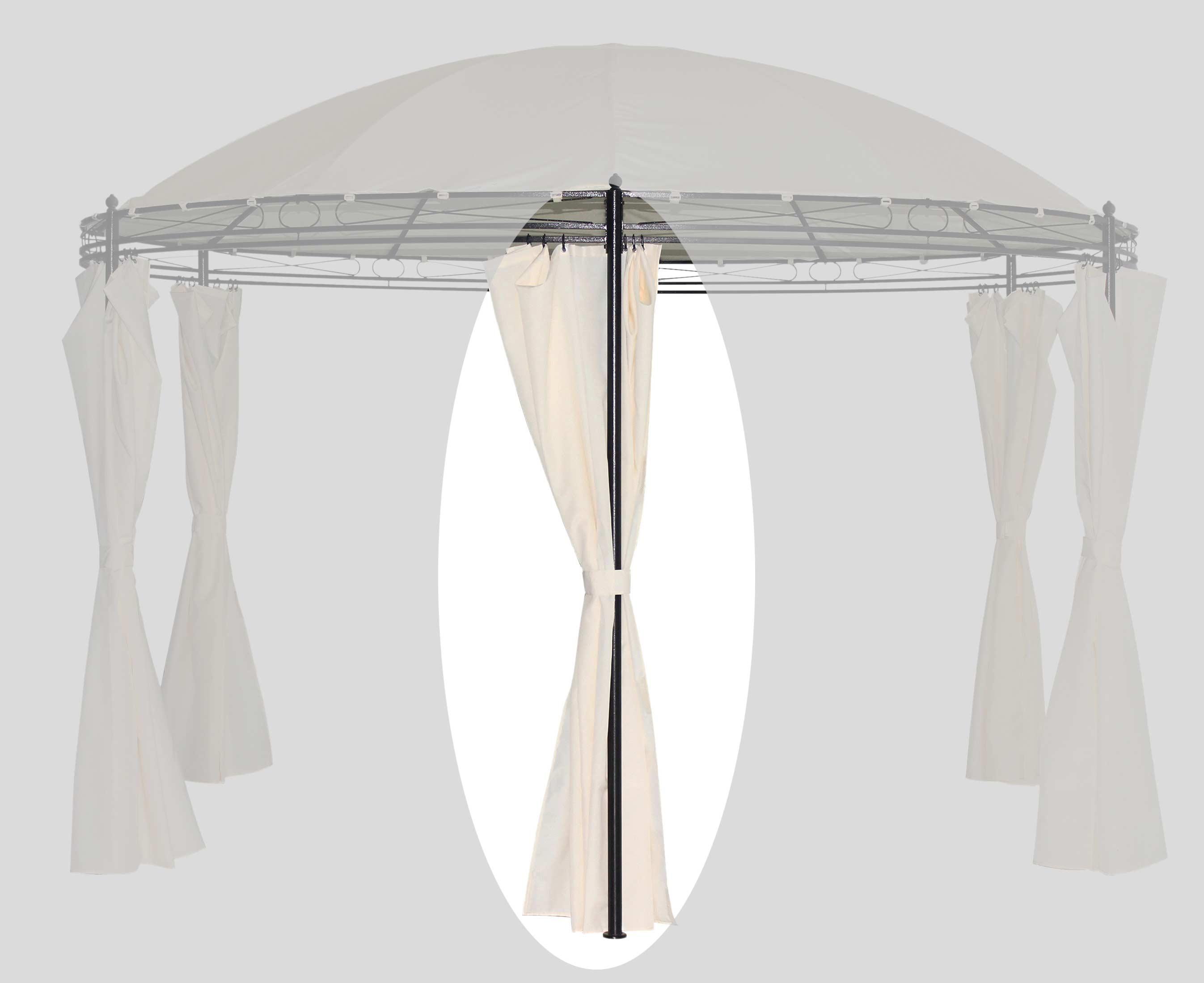 Seitenteile zu Rundpavillon Bellavista beige Ø 350cm 6 Stück Bild 1